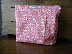 Coral Ikat Makeup Bag by HASinspiration on Etsy, $18.00