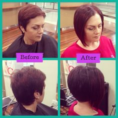Tired of your pixie cut a line before and after tape in frente australia fair southport gold coast hair extensions tape hair extensions pmusecretfo Choice Image