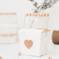 Make these adorable take out boxes to pass out sweets and treats for Valentine's Day!