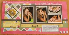 Two Page Scrapbook Layout Friends Mayberry CTMH #scraptabulousdesigns #ctmh