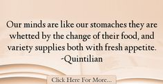 Quintilian Quotes About Food - 23137