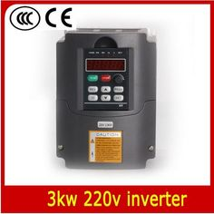 160.80$  Watch now - http://alipvi.worldwells.pw/go.php?t=1000001421874 - 220v 3.0kw VFD Variable Frequency Drive Inverter / VFD 1HP or 3HP Input 3HP Output CNC Driver CNC Spindle motor Speed control 160.80$