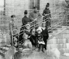 Tsar Alexander III family at Gatchina Palace May 27, 1888