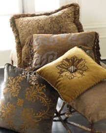 Baroque decorative pillows (very regal and formal)- $285-$320