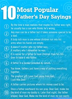 10 Most Popular Fathers Day Sayings
