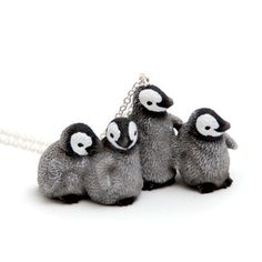 Penguins Necklace, 16€, now featured on Fab.
