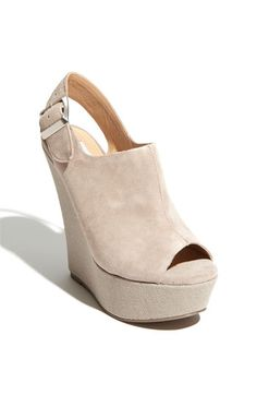 Steve Madden 'Wardenn' Sandal in Taupe Suede-This is my favorite color in shoes right now!