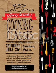 CULINARY CLASSES flyer - Google Search