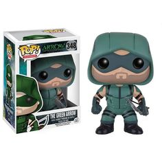 This is The Green Arrow POP Vinyl Figure that's produced by Funko. The Arrow television show has been a very popular success and this particular POP Vinyl figur