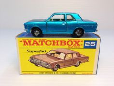 MATCHBOX TRANSITIONAL SUPERFAST #MB25A FORD CORTINA GT MIB VINTAGE LESNEY 1970 - http://www.matchbox-lesney.com/25610