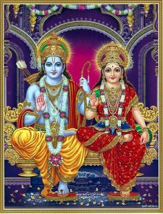 Lord Rama is the seventh avatar of Lord Vishnu and one of the main deities in Hinduism, Here is a collection of Lord Rama images with Sita & HD wallpapers. Durga Ji, Shri Hanuman, Shri Ganesh, Durga Goddess, Durga Images, Hanuman Images, Krishna Images, Shri Ram Photo, Ganesh Photo