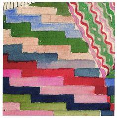 Design for wall hanging 'Slit Tapestry Red-Green' (detail) | Gunta Stölzl (1897-1983) | Bauhaus Dessau, 1927/28