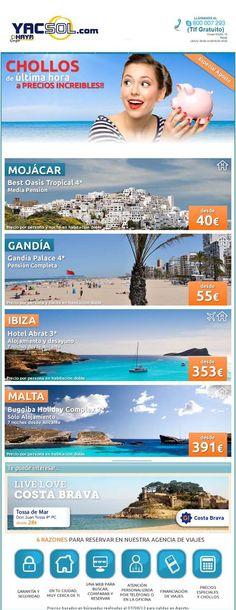 pues para los +rezagados www.yacsol.com y Haya Travel Agencia de Viajes en Yecla en te ofrecen chollos de ultima hora para que por poco dinero disfrutes de unas buenas vacaciones , ven y entra en la web !!!