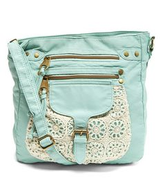 Another great find on #zulily! Mint Crochet Crossbody Bag #zulilyfinds