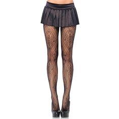 #Trendy Halloween - #Leg Avenue Black Florentine Lace Pantyhose - AdoreWe.com