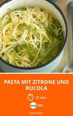 Pasta mit Zitrone und Rucola