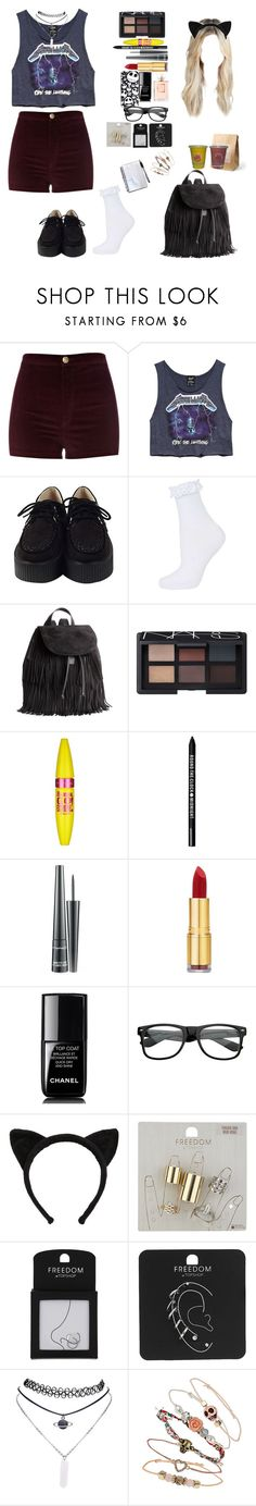 """Untitled #528"" by manuuhwang ❤ liked on Polyvore featuring River Island, Forever 21, Topshop, H&M, NARS Cosmetics, Maybelline, Bare Escentuals, MAC Cosmetics, Isaac Mizrahi and Chanel"