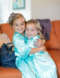 Cheap bride kimono, Buy Quality wedding party robes directly from China kimono bride Suppliers: Fashion Kids Flower Girl Wedding Party Robes Satin NightGown Monogrammed Silk Children Bathrobe Junior Bridesmaid Brides Kimono Bridesmaid Outfit, Bridesmaid Robes, Junior Bridesmaids, Flower Girl Robes, Flower Girls, Silk Robe Long, Kids Robes, Sexy Pajamas, Bridal Party Robes