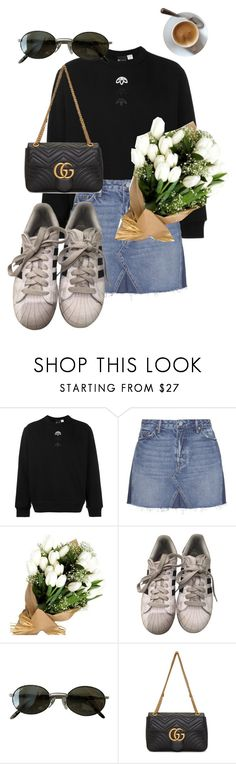 """02052017"" by julie-elisabeth-thrane ❤ liked on Polyvore featuring adidas Originals, GRLFRND, adidas, Ray-Ban and Gucci"