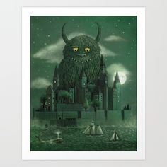 Age of the Giants Art Print by Terry Fan | Society6