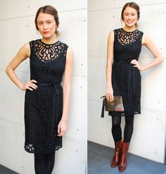 Velvet Ananda Sleeveless Lace Belted Dress