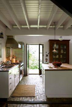 I like the bead board cabinets and the big kitchen island