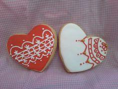 Uno de los decorados de galletas que estamos haciendo para San Valentín