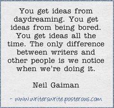 Write those ideas down!