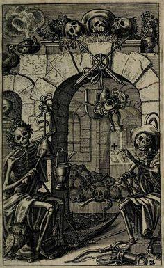 From Eberhard Kieser's Icones Mortis Sexaginta Imaginibus 17th Century