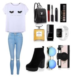"""""""100"""" by miss-arianne on Polyvore featuring Chicnova Fashion, New Look, Smashbox, Chanel, Kate Spade and Forever 21"""