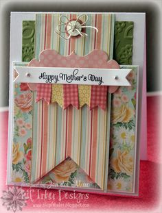 Happy Mothers Day Card.  I heart to stamp.  She does great work