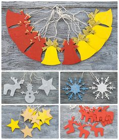 Christmas bell ornaments // Plywood Christmas by TheSeaDreamers