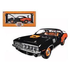 1971 Plymouth Cuda HEMI Black 50th Anniversary 1/24 Diecast Model Car by M2 Machines