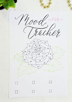 Februari flower mood tracker