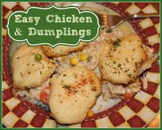 Oh my gosh, I LOVE this recipe for chicken and dumplings. The easiest and tastiest I've tried!