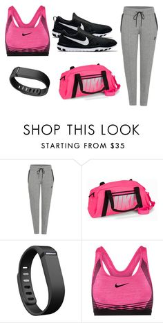 """sports"" by ayelencruzaguillon ❤ liked on Polyvore featuring NIKE and Fitbit"