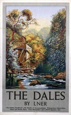 Vintage Railway Travel Poster - The Dales - UK - c1930s.