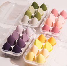 Bb Cream Foundation, Foundation Sponge, Liquid Foundation, Beauty Blender Egg, Beauty Blender How To Use, Beauty Sponge, Makeup Sponge, Makeup Box, Base Makeup