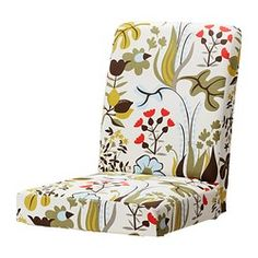 "HENRIKSDAL chair cover, Blomstermåla multicolor Seat width: 21 "" Seat width: 54 cm"
