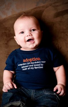 Adoption Definition TShirt 18 Months in Navy Adoption by therhouse, $16.50