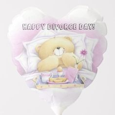 White & Purple Teddy Bear in Bed Pillows Blanket Balloon Baby Shower Ballons, Purple Teddy Bear, Holiday Cards, Christmas Cards, Purple Balloons, Baby Shower Table Decorations, For Your Party, White Shop, Christmas Card Holders