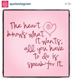 What does YOUR heart want? #LiveLoveLearn