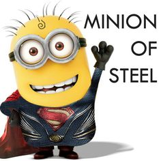 So cute!!!!! I'm sorry, Superman, but you've been replaced by the minion of steel!!!! In my opinion, this one is way cuter :)