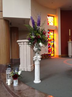 Church pedestal by The Posy Barn