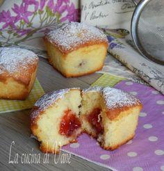muffin soffici alla panna e marmellata