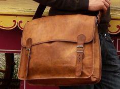 For Him: Leather Messenger Bag Shoulder Bag Laptop Macbookbag Handmade Everyday Satchel travel School College Office Bag. Leather Briefcase, Leather Crossbody Bag, Leather Purses, Leather Handbags, Satchel Bag, Messenger Bags For School, Leather Bags Handmade, Laptop Bag, Vintage Leather