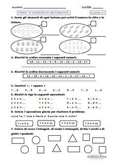 Prove di ingresso matematica classe 2^