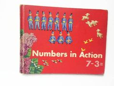 Numbers in Action Elementary School Math Textbook 1955  #newonetsy #etsysellsvintage