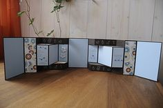 Mappa e arte: Tutorial Tri-Shutter Album Scrapbooking Mini Album, Mini Scrapbook Albums, Fancy Fold Cards, Folded Cards, Mini Albums Scrap, Mini Album Tutorial, Album Book, Artist's Book, Pop Up Cards
