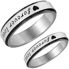 """Aroncent 1 Paar Herren Damen Ringe, Edelstahl Herz """"Forev... https://www.amazon.de/dp/B01F6Z09AY/ref=cm_sw_r_pi_dp_W6ovxbEEE3ZEE"""